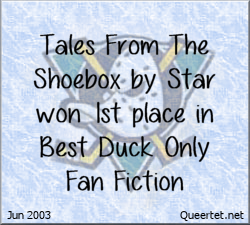 Awards - Summer 2003 - Best DuckOnly (1st Place) - Tales From The Shoebox