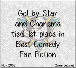 Awards - Winter 2002 - Best Comedy (Tied 1st) - Go!