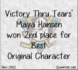 Awards - Winter 2002 - Best OC (2nd Place) - Maya Hansen